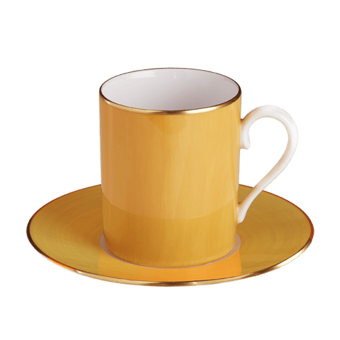 $140.00 Southern Yellow Tall Cup & Saucer