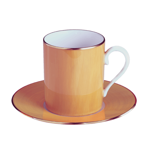 $140.00 Orange Tall Cup & Saucer