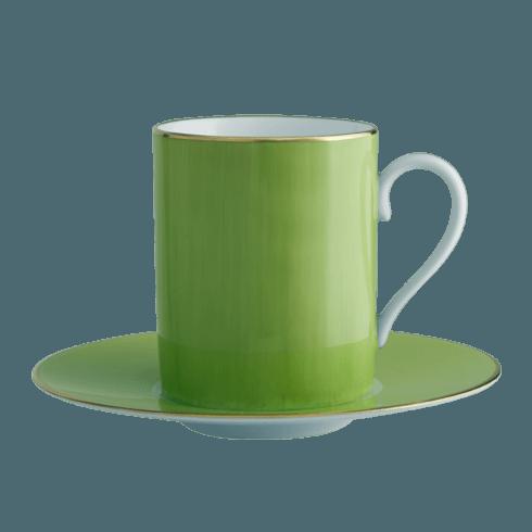 $140.00 Green Tall Cup & Saucer