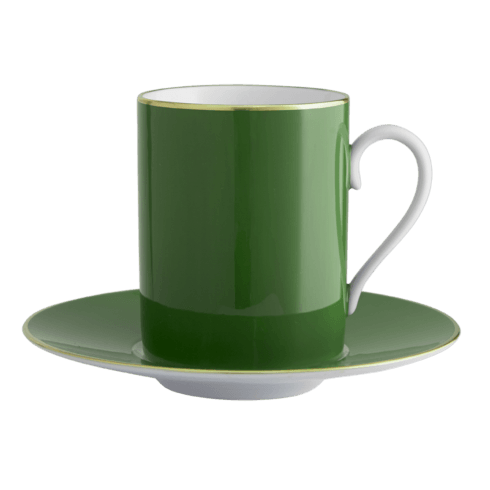 $140.00 English Green Tall Cup & Saucer