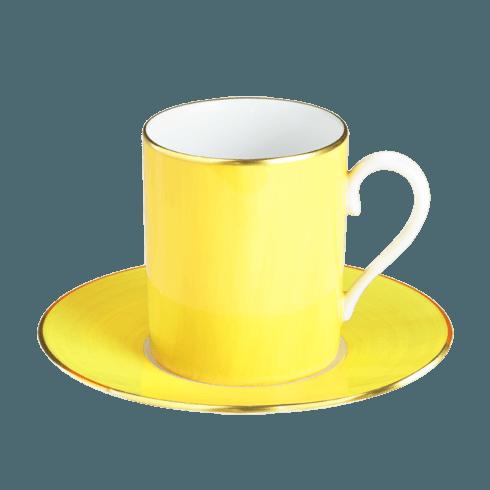 $140.00 Citron Tall Cup & Saucer