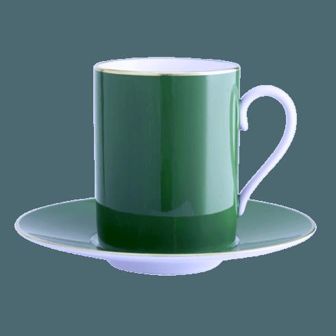 Emerald Tall Cup & Saucer