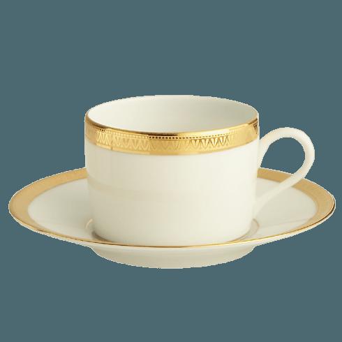 With Filet Tea Cup & Saucer