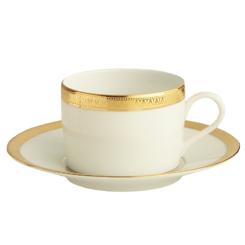 Robert Haviland & C. Parlon Malmaison Gold With Filet Tea Cup & Saucer $155.00