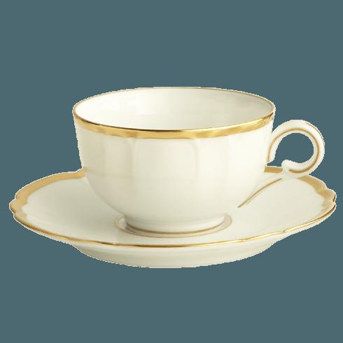 Robert Haviland & C. Parlon  Colette - Gold Tea Cup & Saucer $185.00