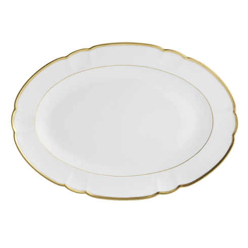 Robert Haviland & C. Parlon  Colette - Gold Oval Platter,  Small $535.00