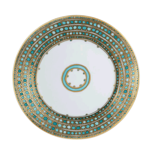 Robert Haviland & C. Parlon  Syracuse - Turquoise Bread & Butter Plate $190.00