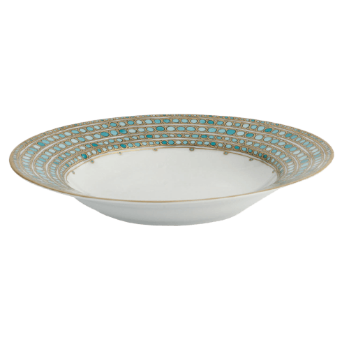 Robert Haviland & C. Parlon Syracuse Turquoise French Rim Soup Plate $235.00