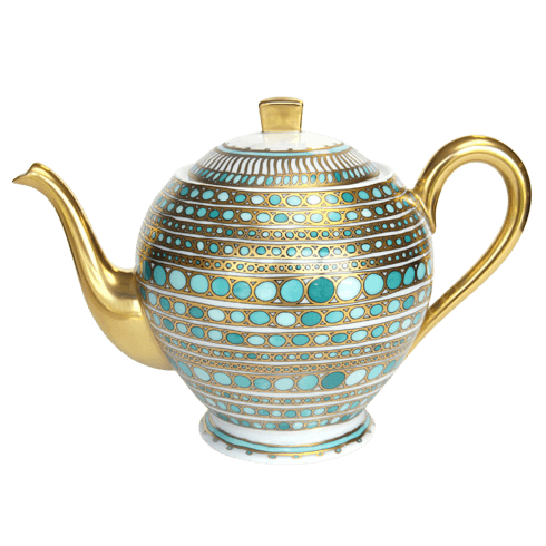 Robert Haviland & C. Parlon Syracuse Turquoise Tea Pot $850.00