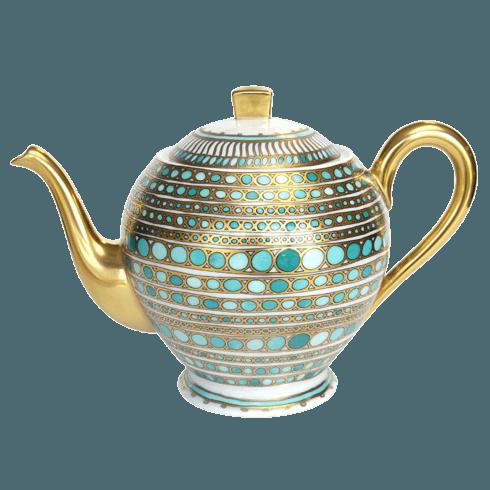 Robert Haviland & C. Parlon Syracuse Turquoise Tea Pot $850.00