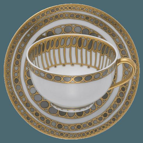 Robert Haviland & C. Parlon Syracuse Taupe Tea Cup & Saucer $265.00