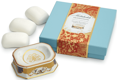 $115.00 Golden Butterfly Gift Soap Set