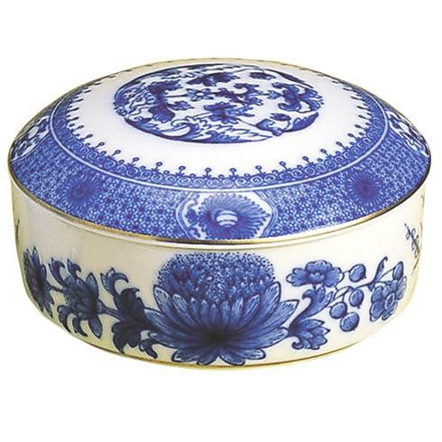 Mottahedeh  Imperial Blue Large Round Box $65.00