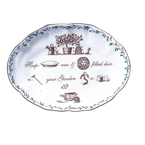 $40.00 Rebus Ring Tray: Happiness Makes Your Garden A Paradise