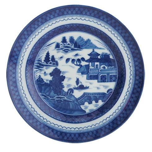 Mottahedeh  Blue Canton Rim Soup Plate $60.00