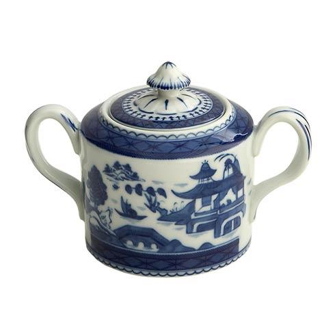 Mottahedeh  Blue Canton Sugar Bowl & Cover $115.00