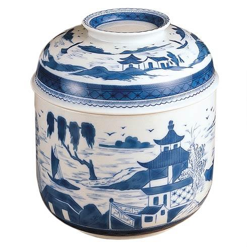 $400.00 Blue Canton Temple Jar