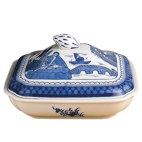 Mottahedeh  Blue Canton Sq Veg Bowl & Cover $365.00