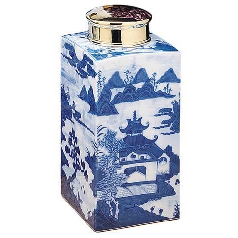 $1,285.00 Blue Canton Tea Jar, Large