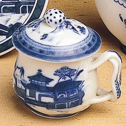 Mottahedeh  Blue Canton Pot De Creme & Lid $110.00