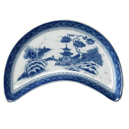 $85.00 Blue Canton Crescent Salad Plate