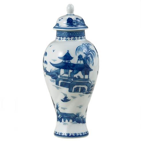 Blue Canton Small Covered Jar