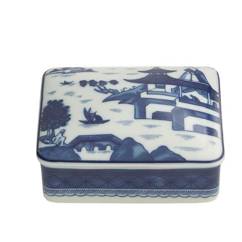 $100.00 Blue Canton Rectangular Box, Medium