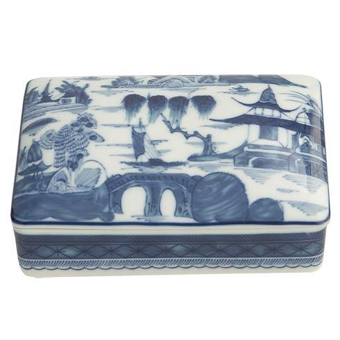 Mottahedeh  Blue Canton Blue Canton Large Rectangular Box $140.00