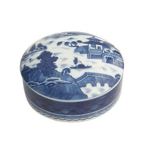 $45.00 Blue Canton Round Covered Box