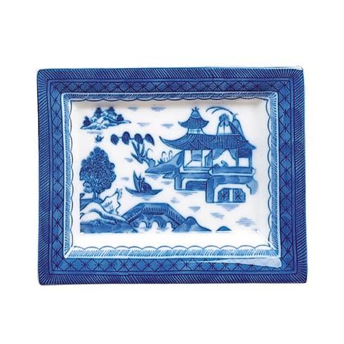 Mottahedeh  Blue Canton Rectangular Tray, Small $55.00