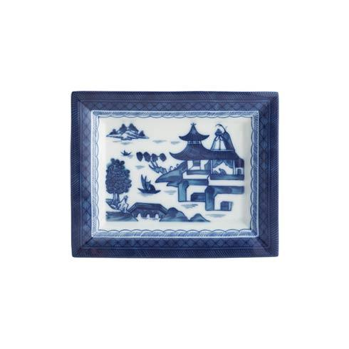 Mottahedeh  Blue Canton Rectangular Tray, Large $75.00