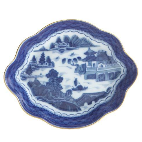 Mottahedeh  Blue Canton Lobed Tray, Medium $80.00