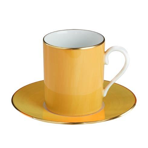 $140.00 Yellow Tall Cup & Saucer
