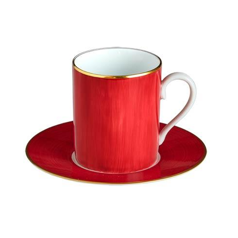 $140.00 Ruby  Tall Cup & Saucer