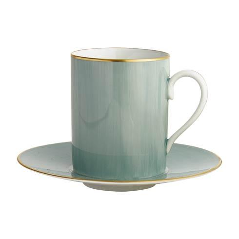 $140.00 Turqouise Tall Cup & Saucer