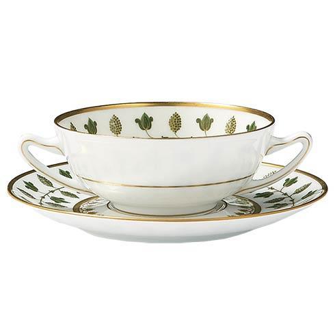 $675.00 Matignon Green Cream Soup Bowl & Saucer