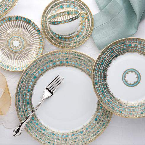 Robert Haviland & C. Parlon  Syracuse - Turquoise 5 Piece Place Setting $756.50