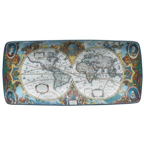$45.00 World Map Hondius Rectangular Tray, Small