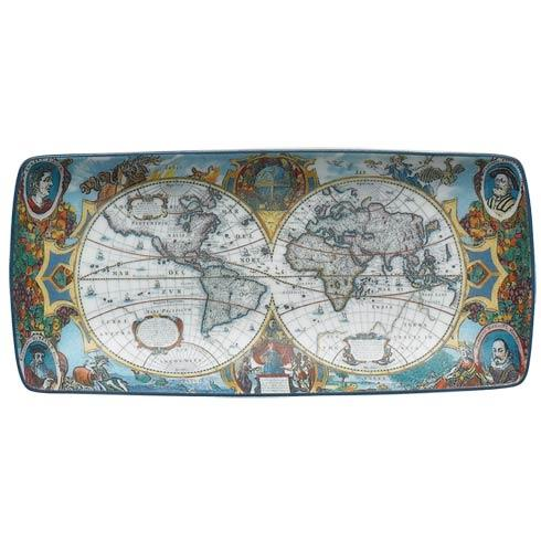 $45.00 World Map Hondius Rectangular Tray, Small