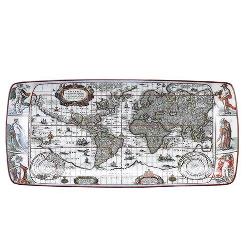 $45.00 Blaeu Mercator Map Rectagular Tray, Small