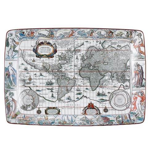 $80.00 Blaeu Mercator Map Rectagular Tray, Large