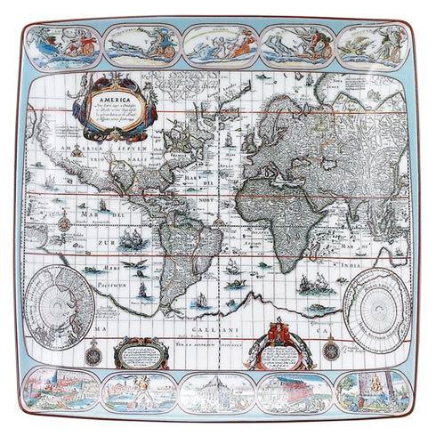 $75.00 Blaeu Mercator Map Square Tray