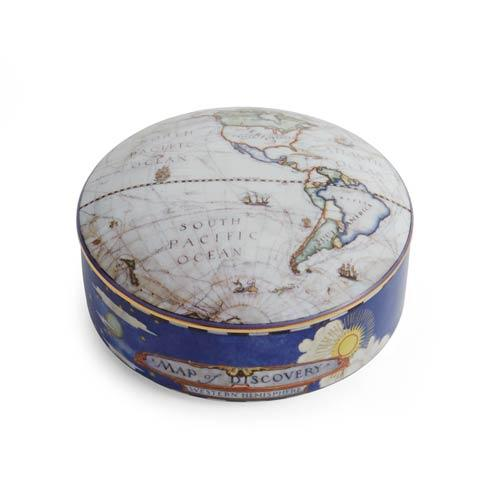 Map Of Discovery West Round Box Medium