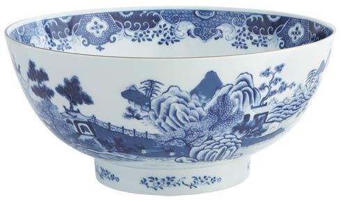 National Trust Blue & White Punch Bowl