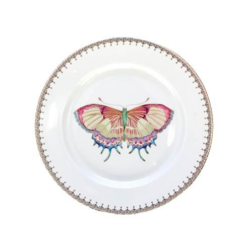 Mottahedeh  Butterflies Golden Tear Drop Butterfly Dessert Plate $70.00