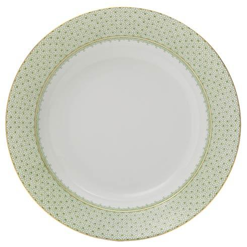 $60.00 Apple Green Rim Soup Plate
