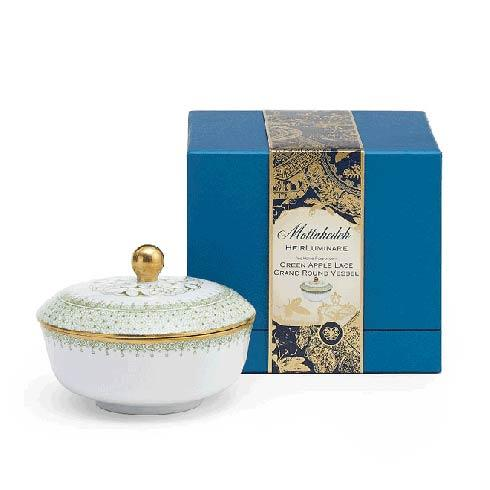 Mottahedeh Lace Apple Green Heirluminare Grand Round Box $85.00