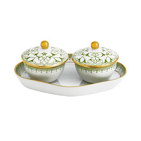 $210.00 Heirluminare Two Votives W/Tray