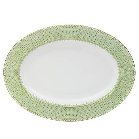 Mottahedeh Lace Apple Green Oval Platter $220.00