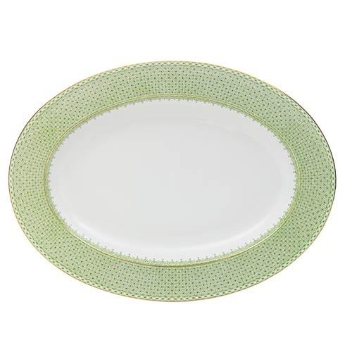 $220.00 Apple Green Lace Oval Platter